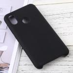 Solid Color Liquid Silicone Dropproof Protective Case for Xiaomi Mi 8 (Black)