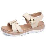 Simple and Wild Non-slip Wearable Sandals for Women (Color:Beige Size:40)