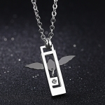 OPK Fashion Angel Love Couple Titanium Steel Necklace Pendant without Chain (Men)