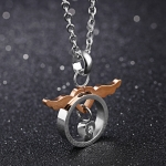 OPK Fashion Angel Love Couple Titanium Steel Necklace Pendant without Chain (Women)