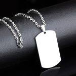 OPK Stainless Steel Non-fading Tag Pendant O-type Chain (3mm x 60cm)