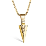 OPK Personality Spear Stainless Steel Pendant without Chain (Gold)