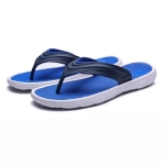 Casual Fashion Massage Bottom Lightweight Outdoor Slippers for Men (Color:Blue Size:45)