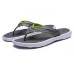 Casual Fashion Massage Bottom Lightweight Outdoor Slippers for Men (Color:Grey Size:45)
