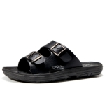 Sports Outdoor Casual Sandals Slippers Beach Shoes for Men (Color:Black Size:43)