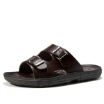 Sports Outdoor Casual Sandals Slippers Beach Shoes for Men (Color:Brown Size:44)