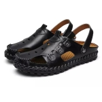Youth Trend Outdoor Leisure and Convenient Two-wear Sandals for Men (Color:Black Size:44)
