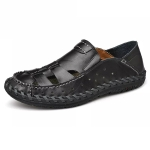 Comfortable Soft Non-slip Wear-resistant Outdoor Upstream Beach Shoes for Men (Color:Black Size:38)