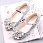 Fashion Sequins Lightweight Princess Shoes Student Dance Shoes (Color:Silver Size:38)