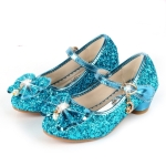 Fashion Sequins Lightweight Princess Shoes Student Dance Shoes (Color:Blue Size:32)