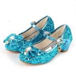 Fashion Sequins Lightweight Princess Shoes Student Dance Shoes (Color:Blue Size:35)