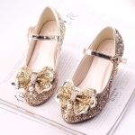 Fashion Sequins Lightweight Princess Shoes Student Dance Shoes (Color:Gold Size:32)