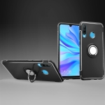 Magnetic 360 Degrees Rotation Ring Armor Phone Protective Case for Huwei P30 Lite / Nova 4e (Black)