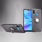Magnetic 360 Degrees Rotation Ring Armor Phone Protective Case for Huwei P30 Lite / Nova 4e (Grey)