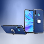 Magnetic 360 Degrees Rotation Ring Armor Phone Protective Case for Huawei P30 Lite / Nova 4e(Navy Blue)