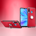 Magnetic 360 Degrees Rotation Ring Armor Phone Protective Case for Huwei P30 Lite / Nova 4e (Red)