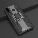 Iron Warrior Shockproof PC + TPU Protective Case for Huawei P30 Lite / Nova 4E, with Ring Holder (Black)