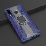 Iron Warrior Shockproof PC + TPU Protective Case for Huawei P30 Lite / Nova 4E, with Ring Holder (Dark Blue)