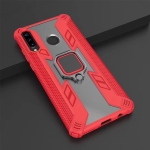 Iron Warrior Shockproof PC + TPU Protective Case for Huawei P30 Lite / Nova 4E, with Ring Holder (Red)