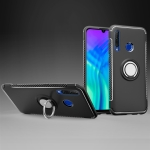 Magnetic 360 Degrees Rotation Ring Armor Phone Protective Case for Huawei Honor 20i (Black)