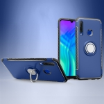 Magnetic 360 Degrees Rotation Ring Armor Phone Protective Case for Huawei Honor 20i (Blue)