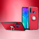 Magnetic 360 Degrees Rotation Ring Armor Phone Protective Case for Huawei Honor 20i (Red)