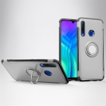 Magnetic 360 Degrees Rotation Ring Armor Phone Protective Case for Huawei Honor 20i (Silver)