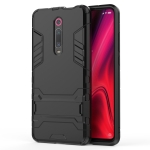 Shockproof PC + TPU Case for Xiaomi Mi 9T / Redmi K20, with Holder(Black)
