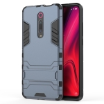 Shockproof PC + TPU Case for Xiaomi Mi 9T / Redmi K20, with Holder(Navy Blue)