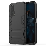 Shockproof PC + TPU Case for Huawei Honor 20 Pro, with Holder (Black)