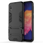 Shockproof PC + TPU Case for Galaxy A10e, with Holder (Black)