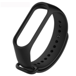 Pure Color Soft TPU Replacement Watchbands for Xiaomi Mi Band 4, Host Not Included (Black)