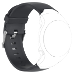Smart Watch Silicone Wrist Strap Watchband for Garmin Approach S3 (Black)