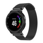 Milanese Wrist Strap Watchband for Garmin Forerunner 235 26cm(Black)