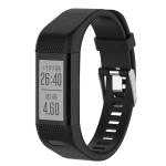 Smart Watch Silicone Wrist Strap Watchband for Garmin Vivosmart HR+ (Black)