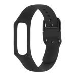 Smart Watch Pure Color Silicone Wrist Strap Watchband for Galaxy Fit-e (Black)