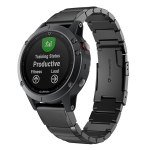 Quick Dismantling Steel Wrist Strap Watchband for Garmin Fenix 5S 20mm (Black)