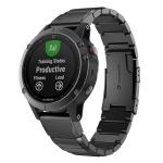 Quick Dismantling Steel Wrist Strap Watchband for Garmin Fenix 5X 26mm (Black)