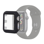 UNIPHA PC + Glass Protective Case for Apple Watch Series 4 44mm (Black)