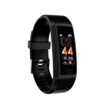 118plus 1.14 inch TFT Screen Smart Bluetooth Bracelet, Support Call Reminder / Heart Rate Monitoring / Blood Pressure Monitoring / Sleep Monitoring (Black)