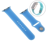 38-40mm Pure Color Silicone Wrist Strap Watchband (Blue)