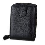 MaDonNo KB32 Buckle Litchi Texture Cowhide Leather Organ Shape Multiple Card Slots Wallet for Men / Women(Black)