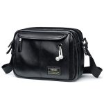 8603 Fashion Men Single Shoulder Bag Cross Handbag Recreational Sports Skew Bag (Black)