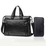 WEIXIER 15036-4 Multifunctional Men Business Handbag Computer Briefcase Single Shoulder Bag with Handbag (Black)