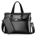 WEIXIER 16037 Multifunctional Men Business Handbag Computer Briefcase Single Shoulder Bag with Handbag(Black)