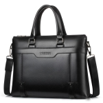 WEIXIER 18065 Men Business Style PU Leather Single Shoulder Bag Handbag (Black)