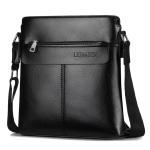 WEIXIER 18071 Men Business Leisure Style PU Leather Single Shoulder Bag (Black)