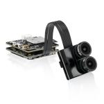 Caddx.us Tariser 4K Mini 1200TVL F2.8 12 Megapixel Dual Lens Dual FPV Color Camera, NTSC / PAL Changeable(Black)