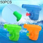 50 PCS Children Water Toys Mini Plastic Shooting Water Gun, Random Color Delivery