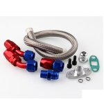 XBL007 Turbo Oil Drain Return Line Kit + 10AN Fitting / Adapter Turbocharger T3 / T4/ T04E